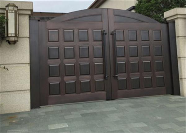 户外院墙铜门